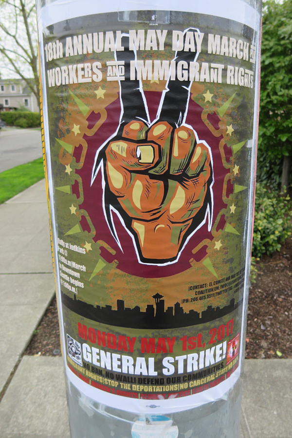 May Day rally poster