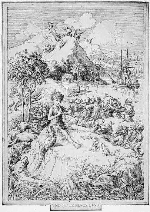 Peter Pan playing his pan-pipes